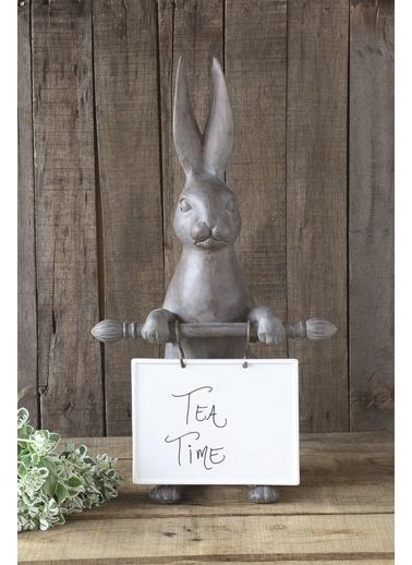 Warm Design Reçine Tavşanlı Seramik Mesaj Panosu Renkli